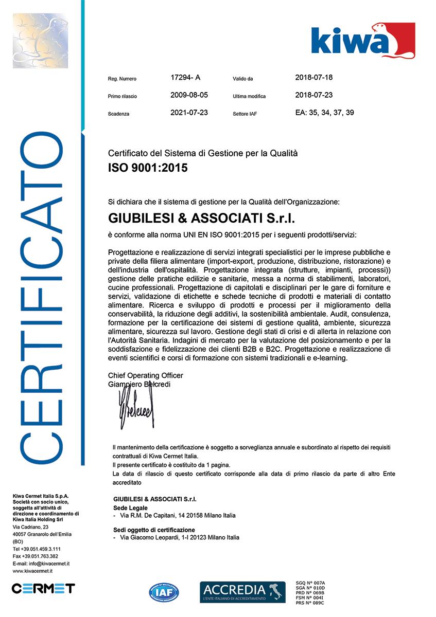 certificato ISO 9001_giubilesi_associati