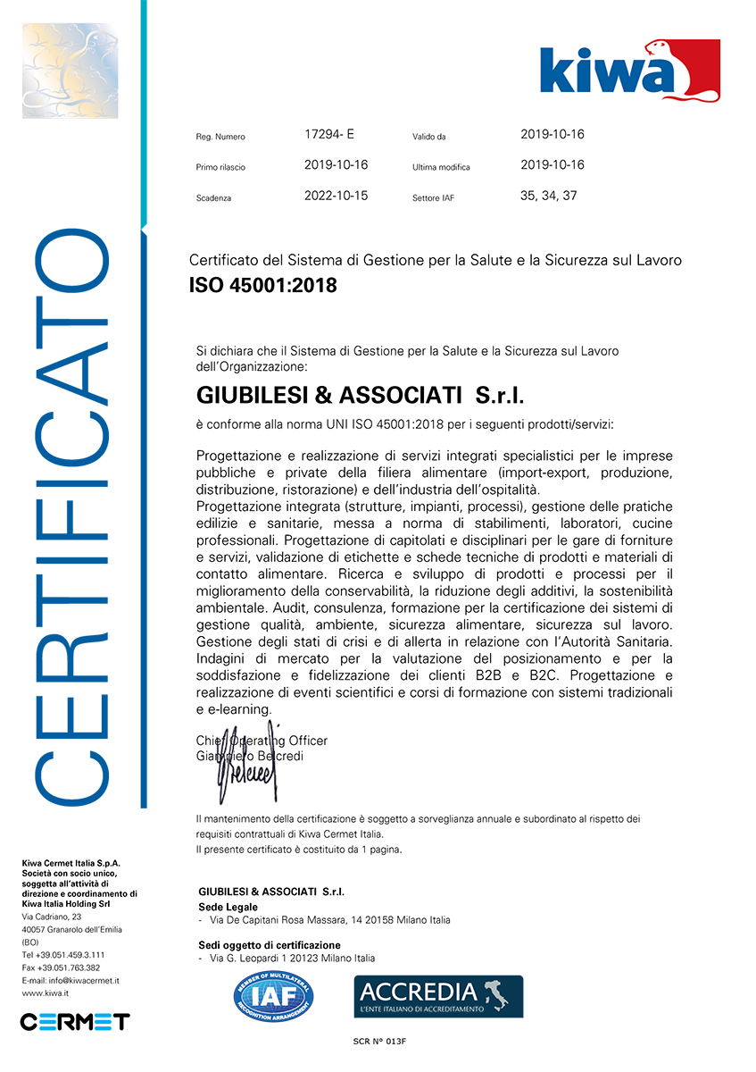 ISO 45001 Certificato Giubilesi_Associati
