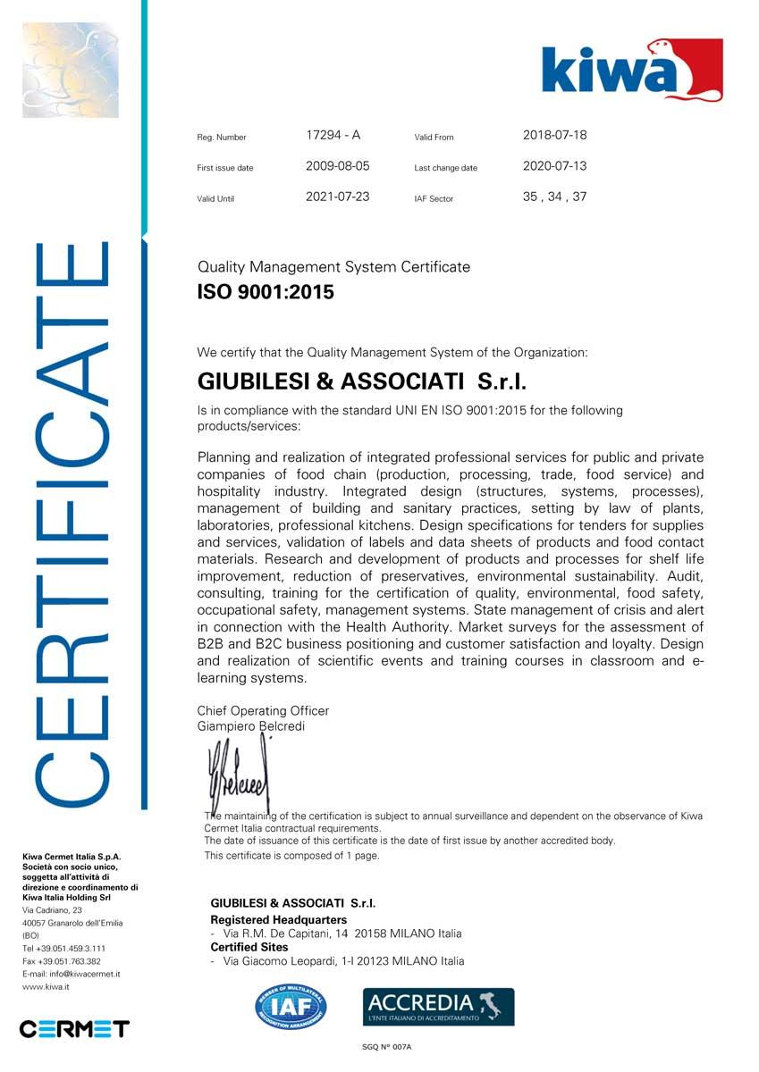 Certificato_Giubilesi_9001_EN